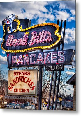 Uncle Bill's Pancakes Metal Print by Robert  FERD Frank