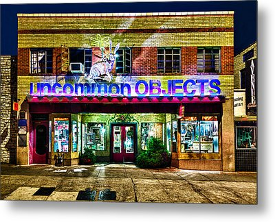 Metal Print featuring the photograph Uncommon Objects At Night by John Maffei
