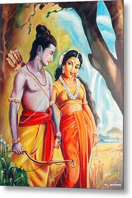 Metal Print featuring the painting Unconditional Love by Ragunath Venkatraman