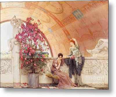 Unconscious Rivals Metal Print by Sir Lawrence Alma Tadema