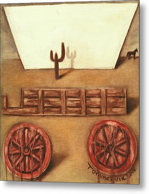 Metal Print featuring the painting Tommervik Uncovered Wagon Art Print by Tommervik