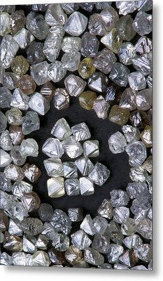 Uncut Diamonds Metal Print