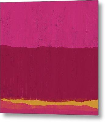 Undaunted Pink 2- Art By Linda Woods Metal Print by Linda Woods