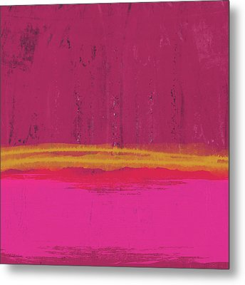 Undaunted Pink Abstract- Art By Linda Woods Metal Print