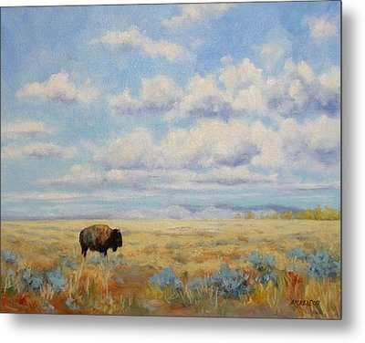 Under A Big Sky Metal Print by Debra Mickelson