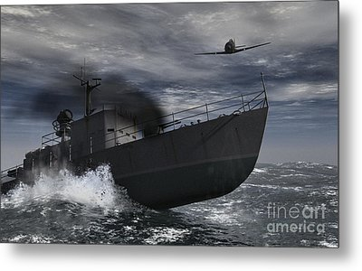 Under Attack Metal Print by Richard Rizzo