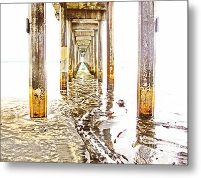 Under Scripps Pier Metal Print by Ruth Jolly