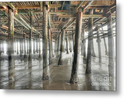 Metal Print featuring the photograph Under The Boardwalk Into The Light by David Zanzinger
