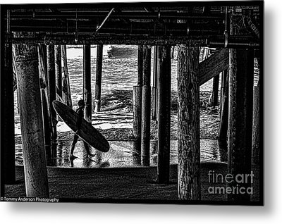 Under The Boardwalk Metal Print by Tommy Anderson