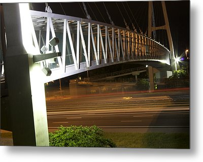 Metal Print featuring the photograph Under The Bridge by Michael Albright