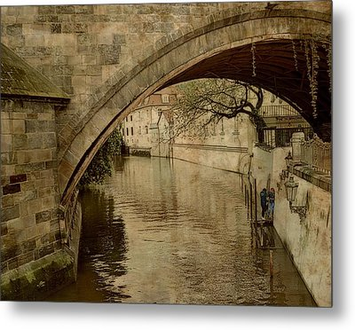 Under The Charles Bridge Metal Print
