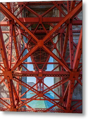 Under The Golden Gate Bridge Metal Print by Sarit Sotangkur