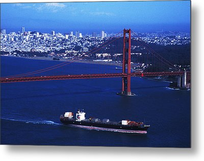 Under The Golden Gate Metal Print by Carl Purcell