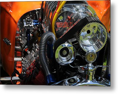 Metal Print featuring the photograph Under The Hood by Mike Martin