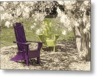 Under The Magnolia Tree Metal Print by Tom Mc Nemar