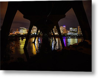 Under The Manchester Bridge Metal Print