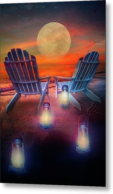 Metal Print featuring the photograph Under The Moon by Debra and Dave Vanderlaan