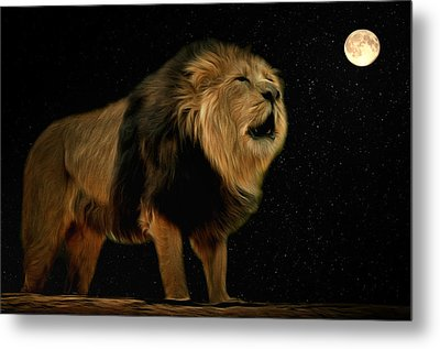 Under The Moon Metal Print by Scott Carruthers