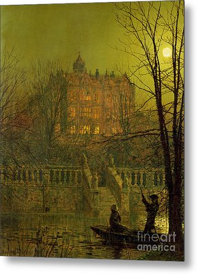 Under The Moonbeams, 1882 Metal Print by John Atkinson Grimshaw