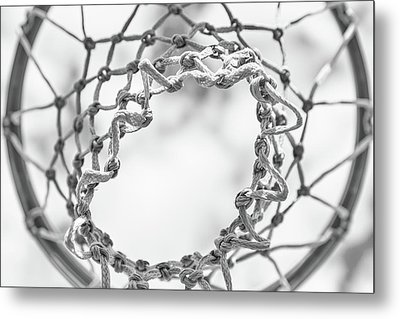 Under The Net Metal Print