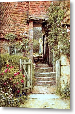 Under The Old Malthouse Hambledon Surrey Metal Print by Helen Allingham
