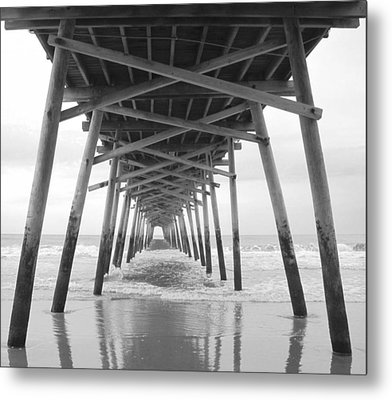 Under The Pier Metal Print by Betty Buller Whitehead