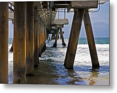 Metal Print featuring the photograph Under The Pier by Ron Dubin