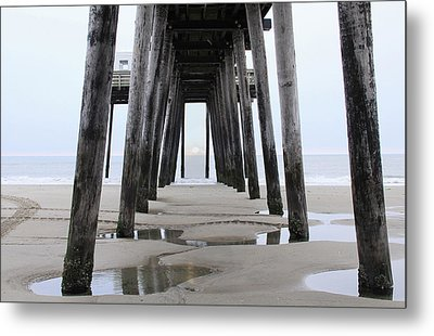 Metal Print featuring the digital art Under The Pier by Sharon Batdorf