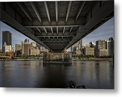 Under The Roberto Clemente Bridge Metal Print by Rick Berk