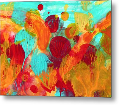 Under The Sea Abstract 1 Metal Print by Amy Vangsgard
