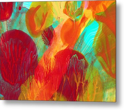 Under The Sea Abstract 2 Metal Print by Amy Vangsgard