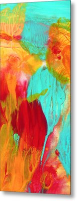Under The Sea Abstract Panoramic Metal Print by Amy Vangsgard