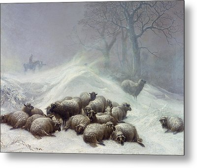 Under The Shelter Of The Shapeless Drift Metal Print by Thomas Sidney Cooper