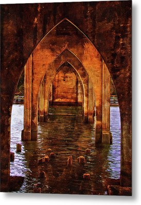 Metal Print featuring the photograph Under The Siuslaw River Bridge by Thom Zehrfeld