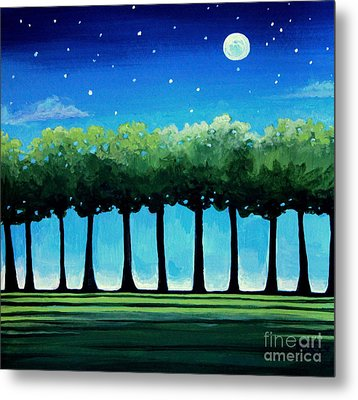Under The Stars Metal Print by Elizabeth Robinette Tyndall