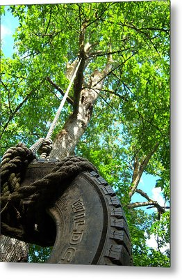 Under The Tire Swing Metal Print by Ken Day