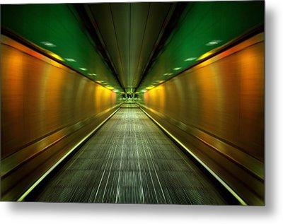 Underground Heathrow Metal Print by Svetlana Sewell