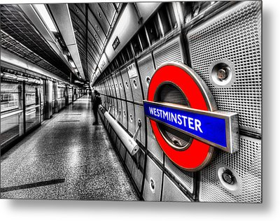 Underground London Metal Print