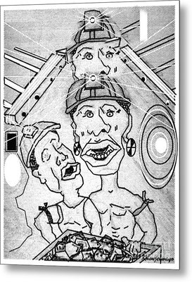 Underground Mine Workers In South Africa Metal Print