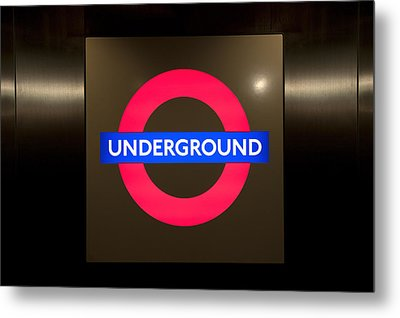 Underground Sign Metal Print by Svetlana Sewell
