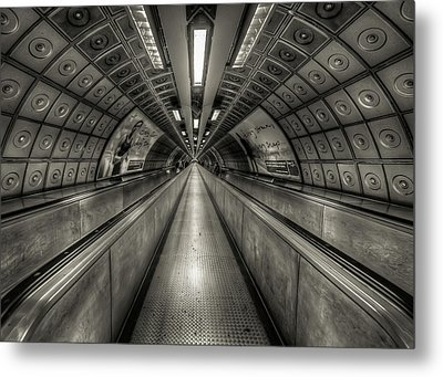 Underground Tunnel Metal Print by Vulture Labs