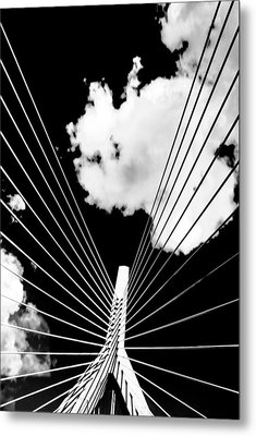 Underneath The Zakim Metal Print by Andrew Kubica