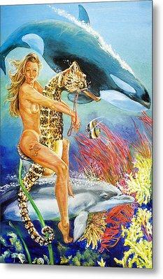 Undersea Fantasy Metal Print by Bryan Bustard