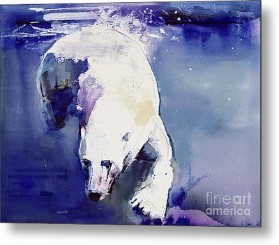 Underwater Bear Metal Print by Mark Adlington