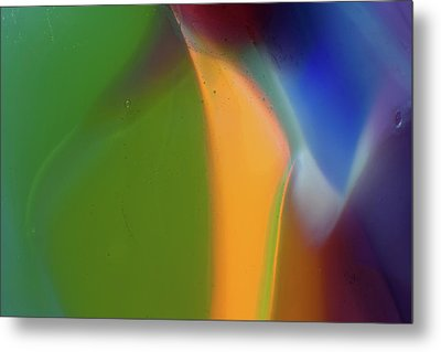Underwater Fantasies Abstract Glass Photography By Omashte Metal Print by Omaste Witkowski