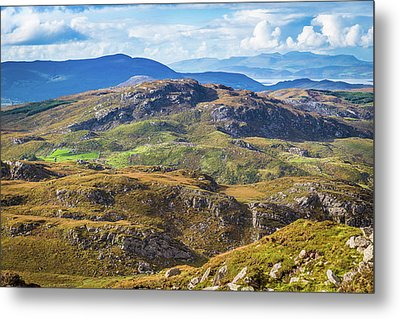 Undulating Landscape In Kerry In Ireland Metal Print by Semmick Photo