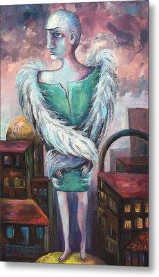 Unemployed Angel Metal Print by Elisheva Nesis