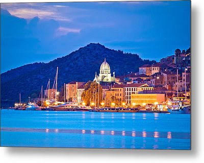 Unesco Town Of Sibenik Blue Hour View Metal Print