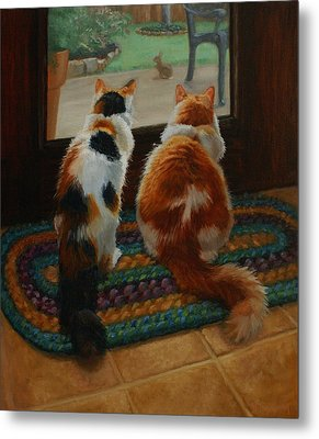 Unexpected Guest Metal Print by Vicky Gooch