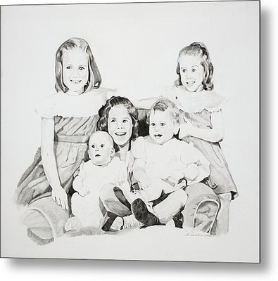 Unfinished Sisters Metal Print by Pat Saunders-White